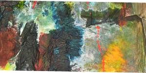 abstrakte Komposition , Collage