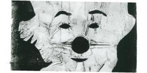 Monotypie Clown