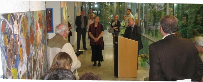 Eröffnung der Personale im Kulturhaus alter Pfarrhof