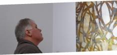 """Walter Maringer betrachtet mein Werk""""LIchtwechsel"""""""